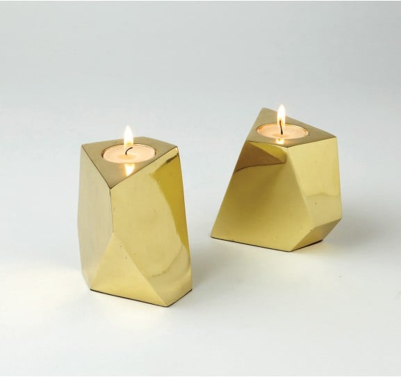 DwellStudio's Converge Votives ($38) are so cool and geometric.