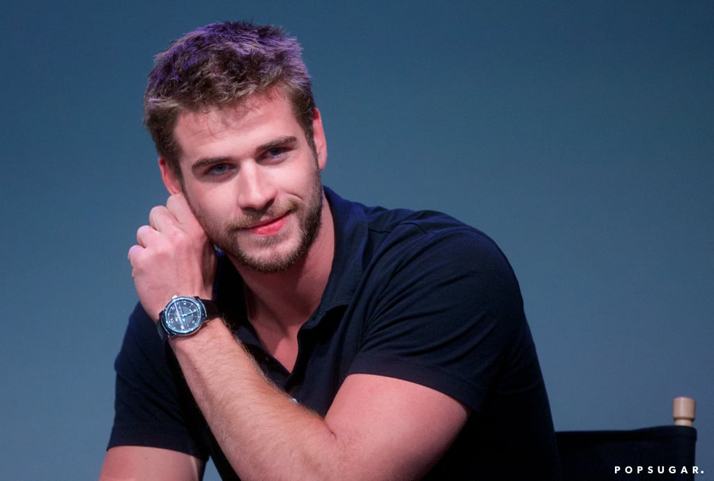 Liam Hemsworth promoted Paranoia at the Apple store in NYC.