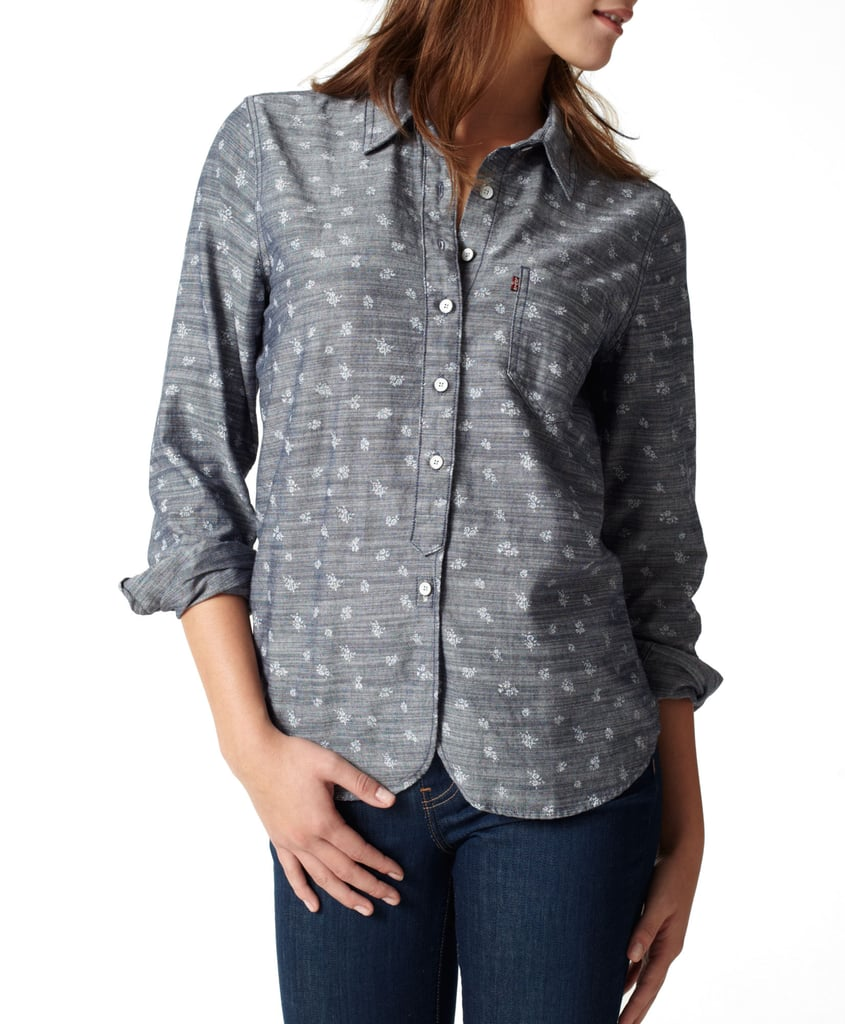 Pair this chambray top with denim on the bottom — the subtle white floral print will set the tone. Levi's Sarah Skimmer Shirt ($45, originally $64)