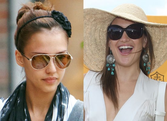 Sunglasses for Oval Faces in Style of Kate Hudson, Jessica Alba