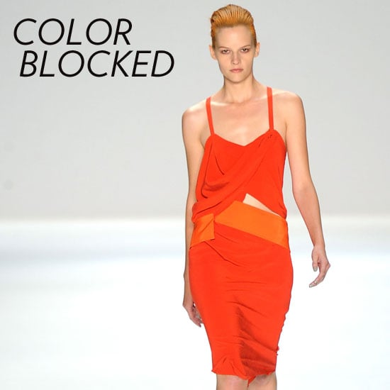 Why we love it: The colorblocking trend isn't going anywhere, and we're OK with that. It's time we get even more inventive with our colorblocking combos and methods of achieving it. How to wear it: There are so many ways to colorblock with dresses. From two-tone frocks to striped minis and maxis, just make sure to err on the side of not mixing more than three to four colors at a time. Photo: Narciso Rodriguez Spring 2012