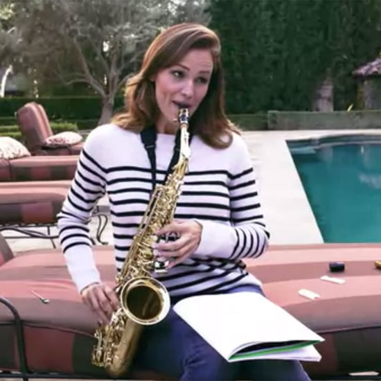 Jennifer Garner Plays Saxophone For Vanity Fair