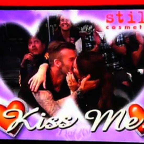 Victoria and David Beckham on Kiss Cam at Lakers Game (Video)
