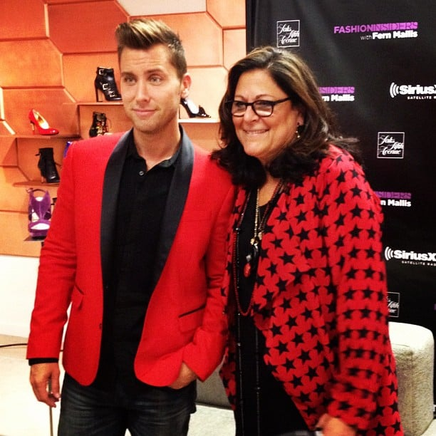 Fern Mallis and Lance Bass co-hosted a SiriusXM FNO discussion during FNO. Source: Instagram user s5a