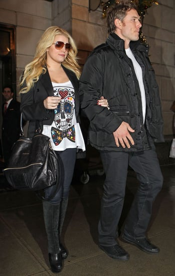 Pictures of Jessica Simpson and Eric Johnson Leaving NYC Hotel