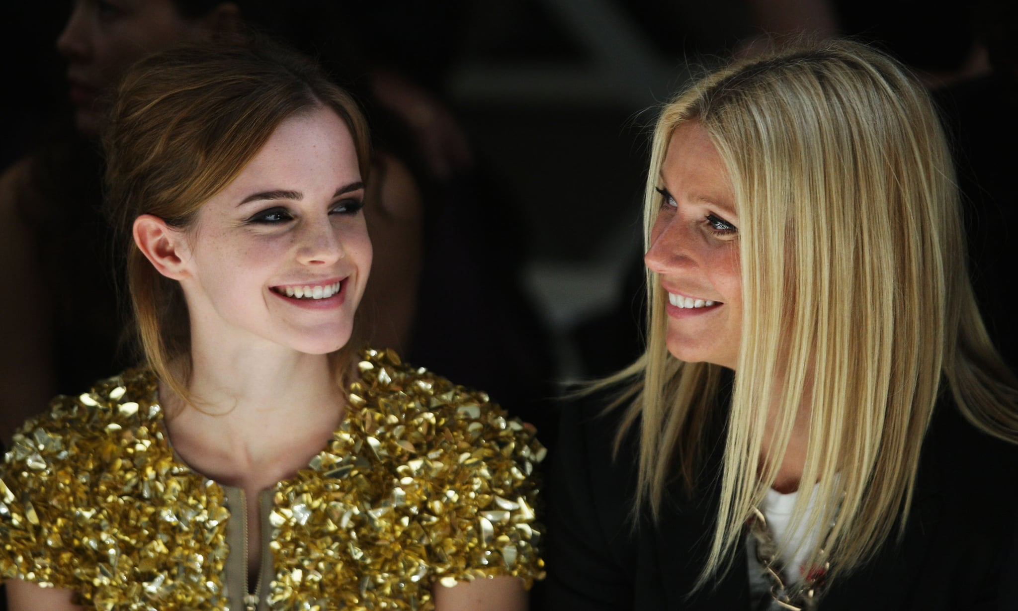 She sat front row with Emma Watson at the Burberry runway show during London Fashion Week in September 2009.