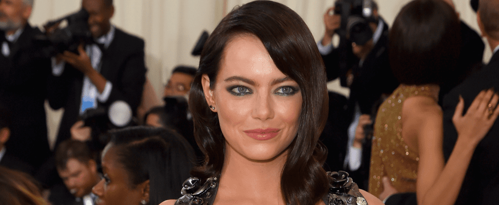 Emma Stone Dispels Doubts About Her Brunette Hair at the Met Gala