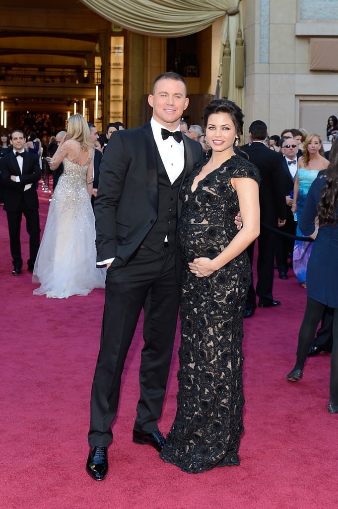 Pregnant Jenna Dewan was by husband Channing Tatum's side on the Oscars red carpet.
