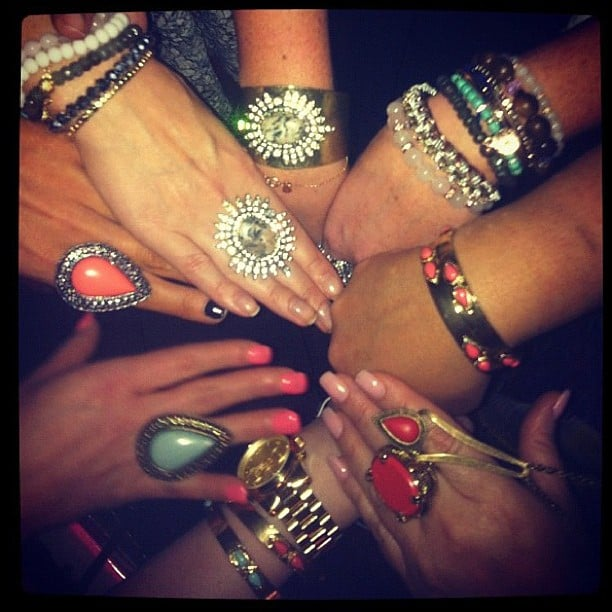 Lots of hands, lots of Samantha Wills jewellery. Source: Instgram user samanthawills