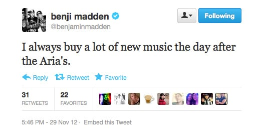 We're loving the support of Aussie music, Benji!