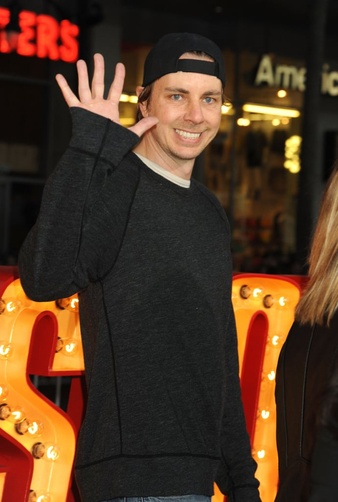 Dax Shepard waved to fans at the event.