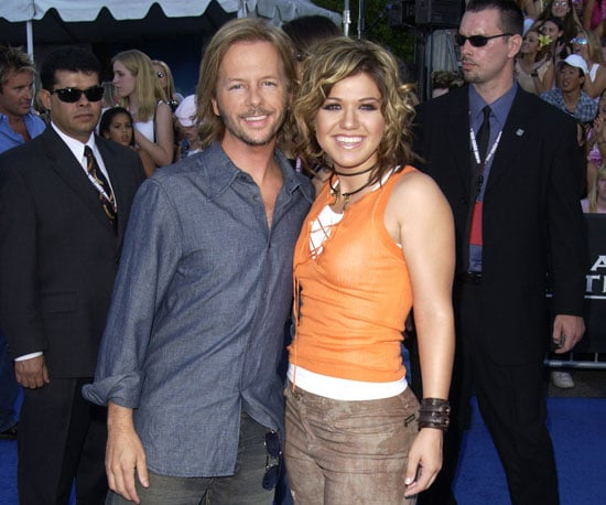 David Spade snapped a photo with American Idol winner Kelly Clarkson before the 2003 show.