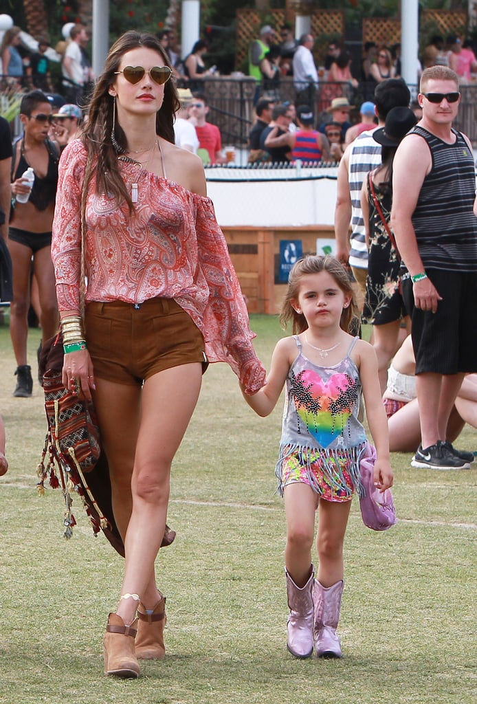 Alessandra Ambrosio and her daughter, Anja, attended the festival in 2014.