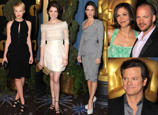 Photos of Sandra Bullock, Anna Kendrick, Carey Mulligan, Maggie Gyllenhaal, Peter Sarsgaard, Colin Firth at Oscar Nominee Lunch