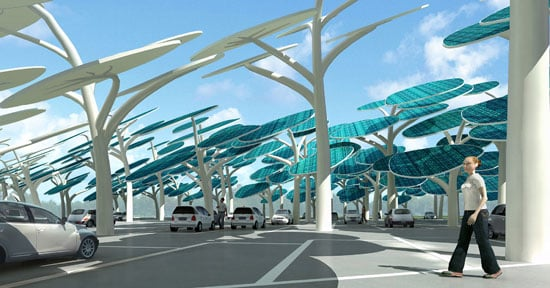 Concept Solar Forest Charges Your Electric Cars