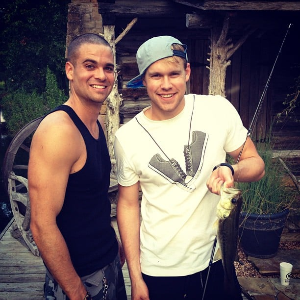 Chord Overstreet and Mark Salling did a little fishing.  Source: Instagram user chordover