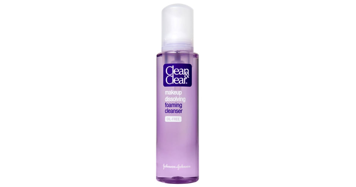 Clean & clear makeup dissolving foaming cleanser