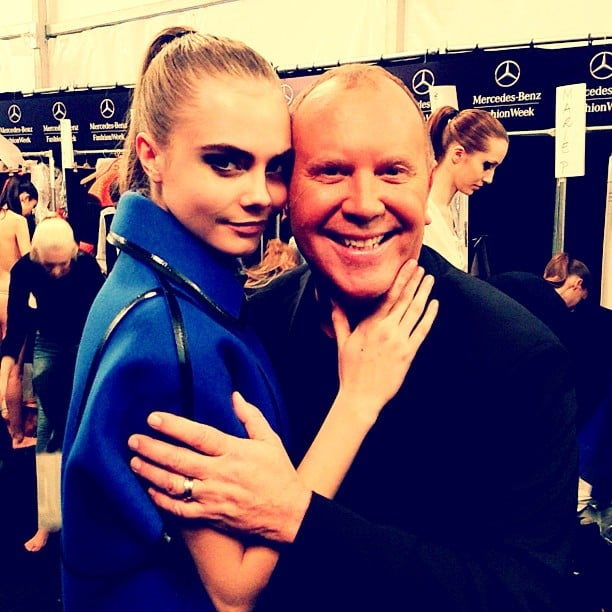 Michael Kors hung out with one of his models before his runway show at Fashion Week. Source: Instagram user michaelkors