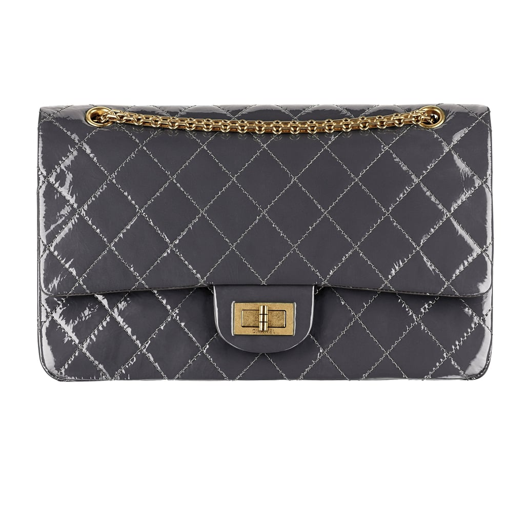 Chanel Gray Patent Leather Bag With a Mademoiselle Lock Photo courtesy of Chanel