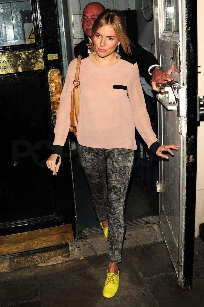 Sienna Miller Puts Her Best, Bright Foot Forward Alongside Her Mom