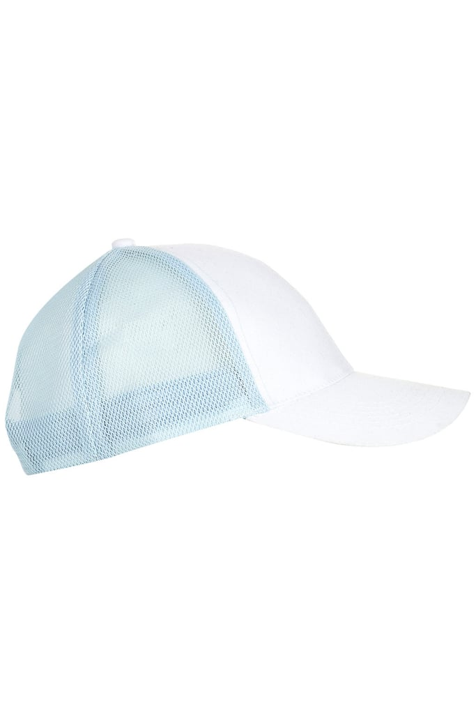 Baseball caps are popping up everywhere; this rendition features a crisp combo and mesh detailing to keep your head cool.  Topshop Baseball Cap ($30)