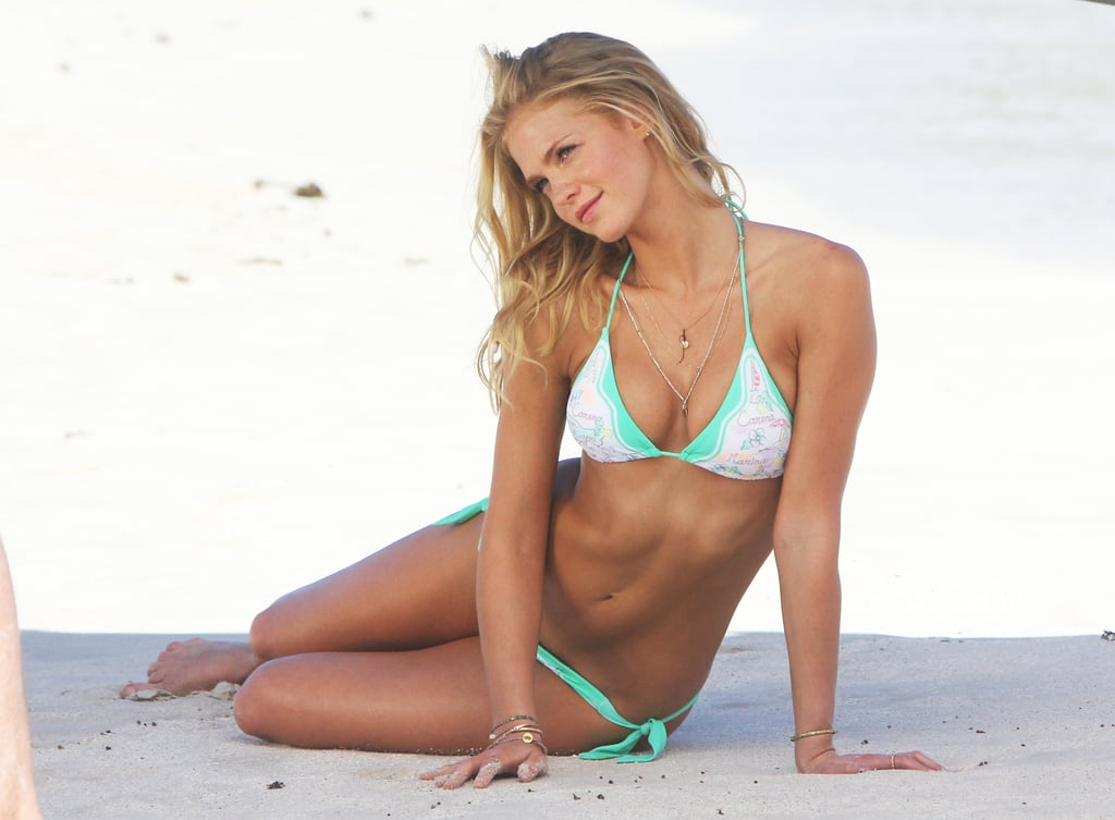 Erin Heatherton Hangs Out in Her Bikini For a Photo Shoot in St. Barts