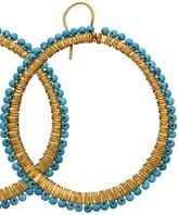 The Look For Less: Lisa Stewart Turquoise Hoop Earrings