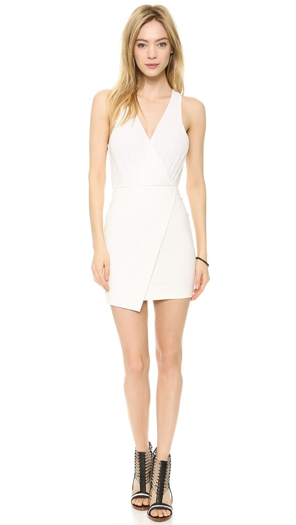 Bec & Bridge White Drape Dress