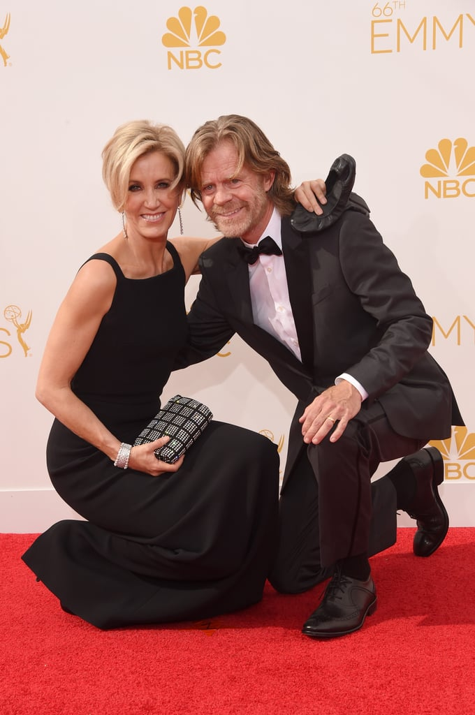 After 17 years of marriage, Felicity Huffman and William H. Macy were too cute on the carpet.