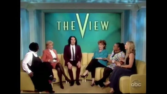 Video of Russell Brand on The View Talking About His Wedding