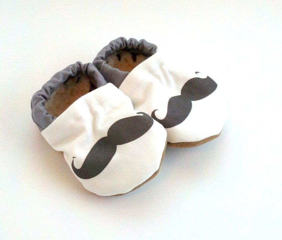 Scooter Booties Mustache Baby Shoes