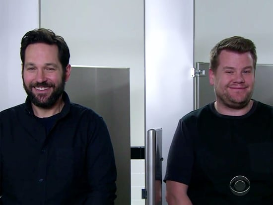 WATCH: Sandwiches? Knitting? Paul Rudd and James Corden Have a Nonstop Urinal Chat