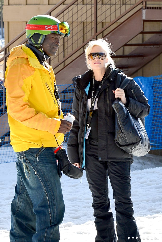 Gwen and Seal chatted while their kids hit the ski slopes.