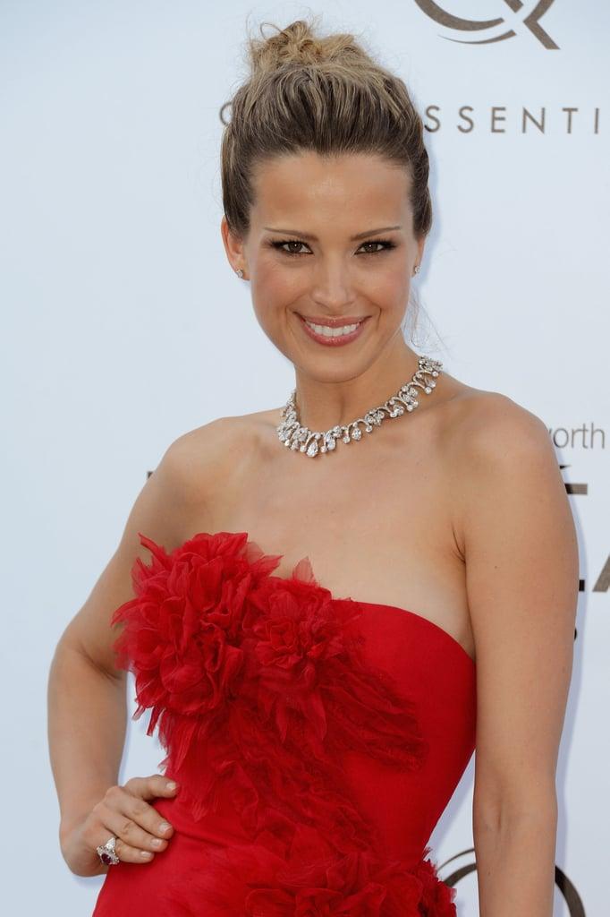 Petra Nemcova wore red to the amfAR Cinema Against AIDS gala.