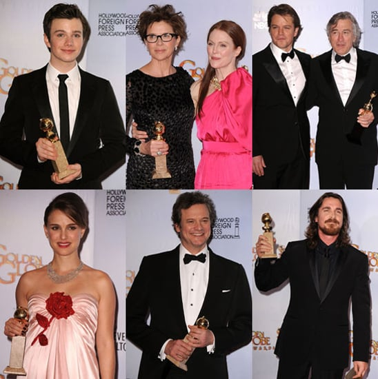 Pictures of 2011 Golden Globes Press Room Winners