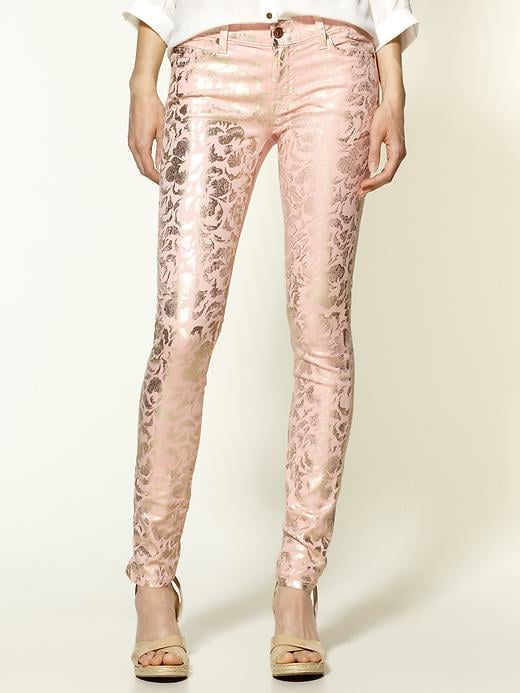 7 For All Mankind The Skinny Metallic Floral-Print Jeans ($215)