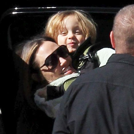 Angelina Jolie and Brad Pitt With Kids at Lady and the Tramp