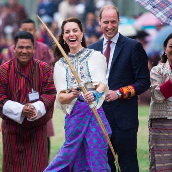 Kate Middleton Wearing a Cape in India