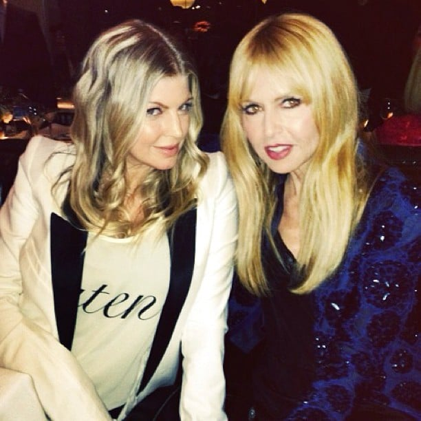 Rachel Zoe posed with mom-to-be Fergie. Source: Instagram user rachelzoe
