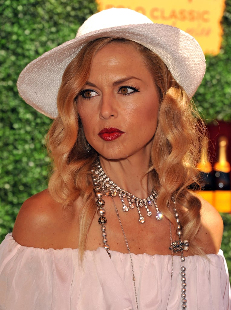 Rachel Zoe pouted with an ombre lip at a polo match in LA.