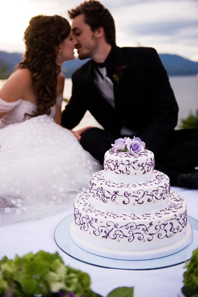 Tradition meets style when it comes to this pretty purple and white cake.