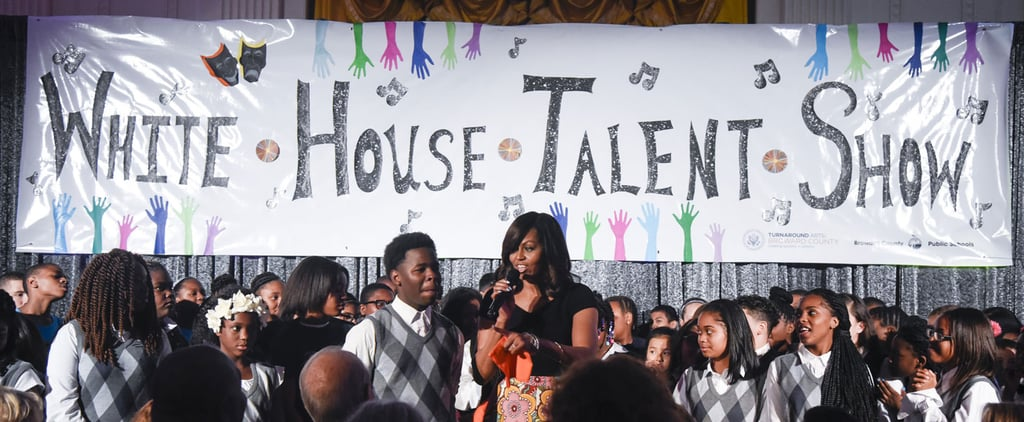 Michelle Obama Bonds With Little Kids at the White House Talent Show