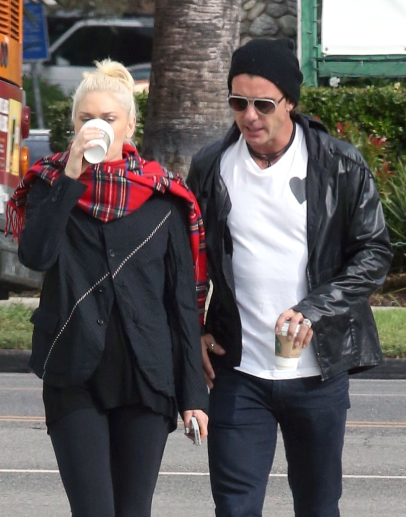 Gwen Stefani and Gavin Rossdale sipped coffee together.