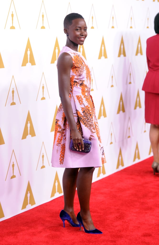 Lupita Nyong'o arrived at the luncheon.