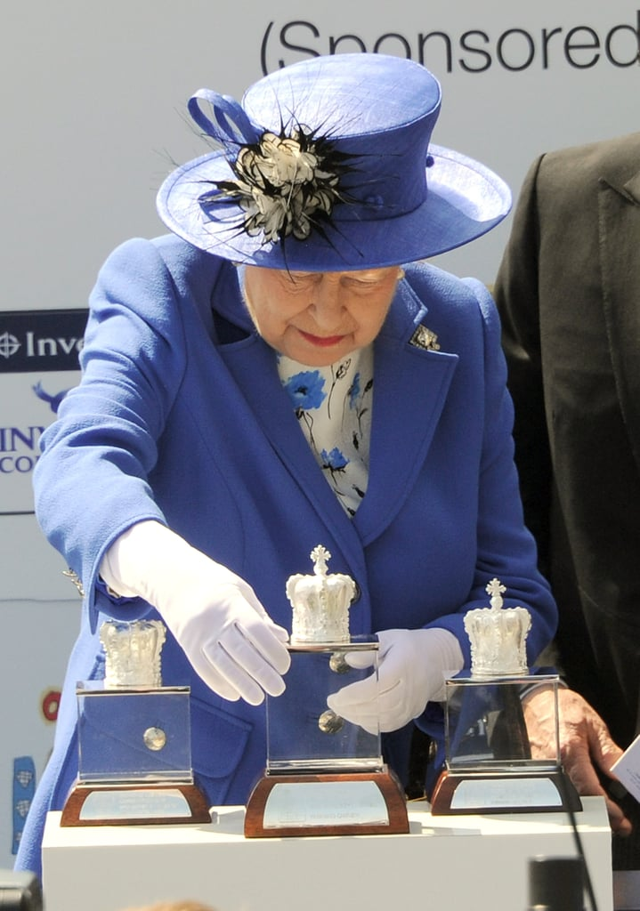 The queen picked up the awards.