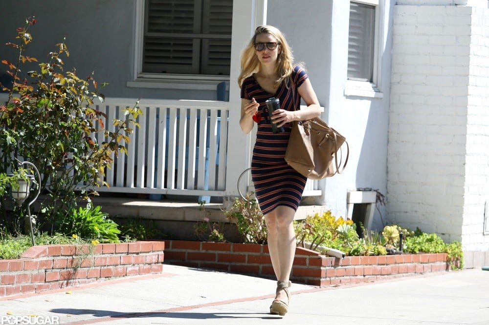 Rachel McAdams left a friend's house in LA.