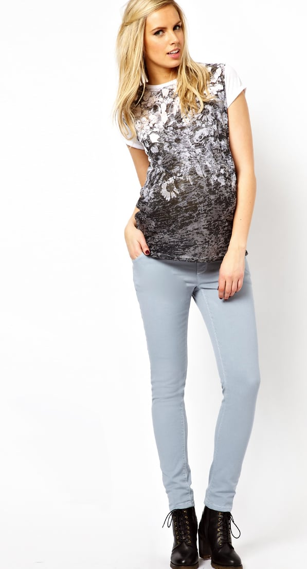 These ASOS Maternity Elgin Jeans With Stretch Waistband in Pastel Blue ($37, originally $47) are the perfect addition to your Spring wardrobe —pale in color and fitted throughout the leg, they'll become your go-to pants throughout your pregnancy.