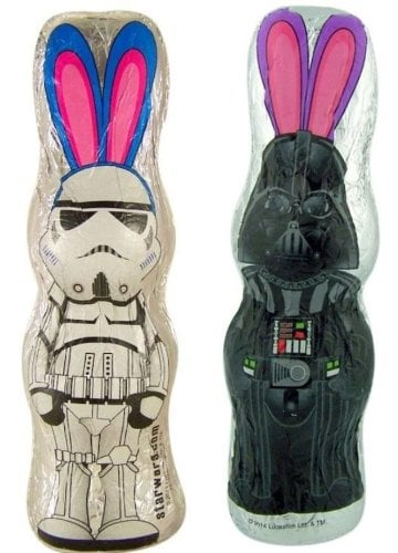 Now this is what we wish had been in our Easter baskets as kids growing up. Order this Stormtrooper and Darth Vader chocolate bunny set ($20), although word on the street is you can find it at your local Target or drugstore for much cheaper.