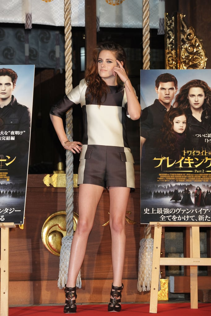Kristen Stewart posed at a Breaking Dawn Part 2 event in Japan.