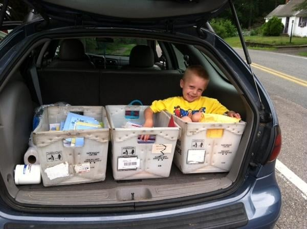"""By the Monday before his birthday, Danny had received around 375 cards and 15 packages filled with gifts.  """"We never thought it would be this big,"""" his mom, Carley Nickerson, told the local paper. """"It's very crazy."""" Source: Twitter user TheSunChronicle"""